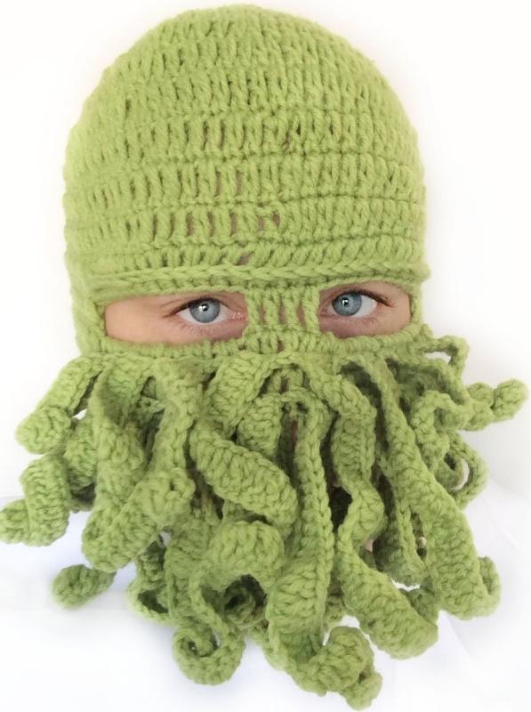 Tentical Cthulhu Knit Ski Mask
