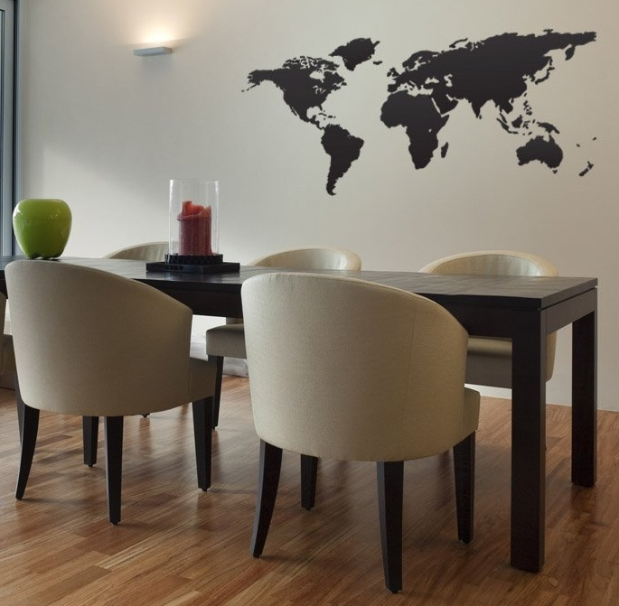 Vinyl Wall Art Decal Sticker World Map Globe Earth Country