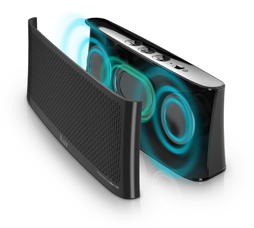 Wavecast Portable Stereo Bluetooth Speaker