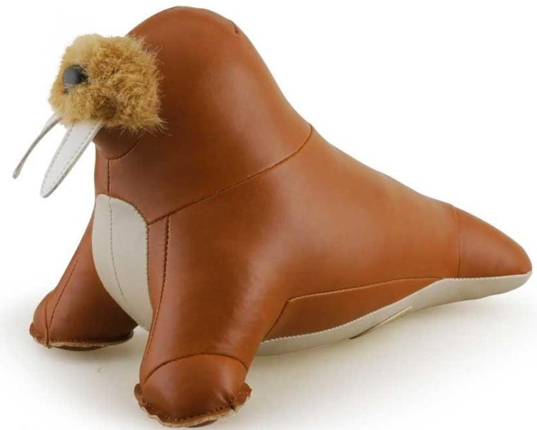 Zuny Series Walrus Tan Animal Bookend