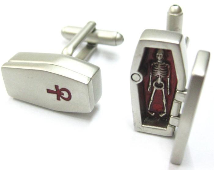 3D Coffin Man Cufflinks