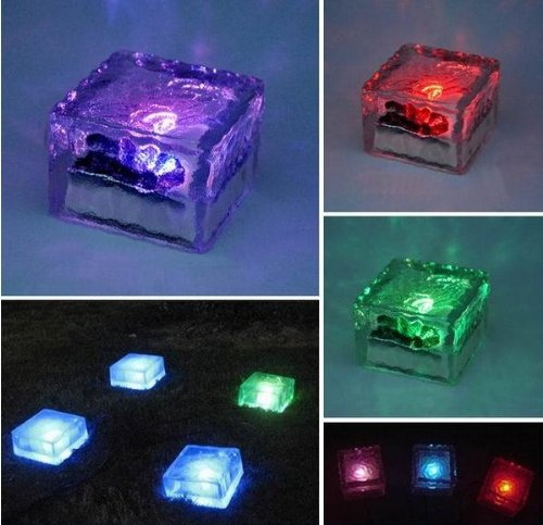 7 Color Changing Solar Led Ice Brick