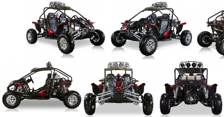 BMS Cherry Bomb 600 RED Gas 2 Cylinder 586cc Buggy Go Kart