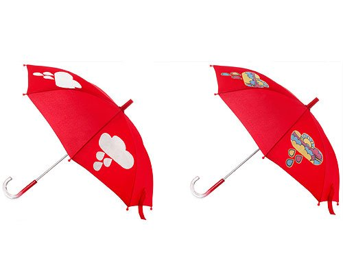 Color Changing Umbrella RED