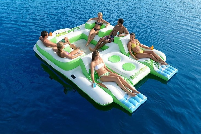 Inflatable 6Person Pool Raft Floating Island