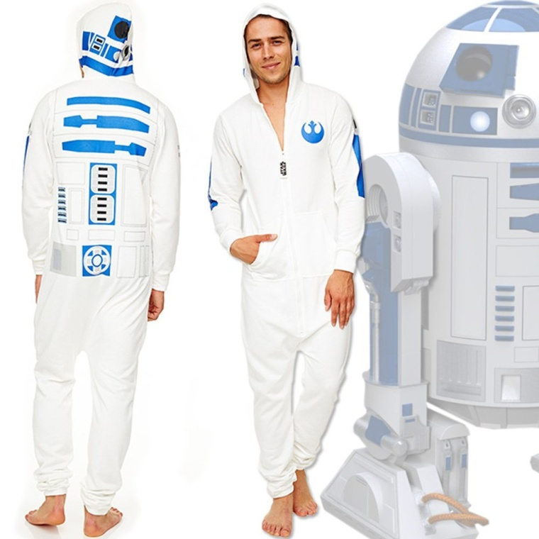 Mens Star Wars R2D2 Onesie