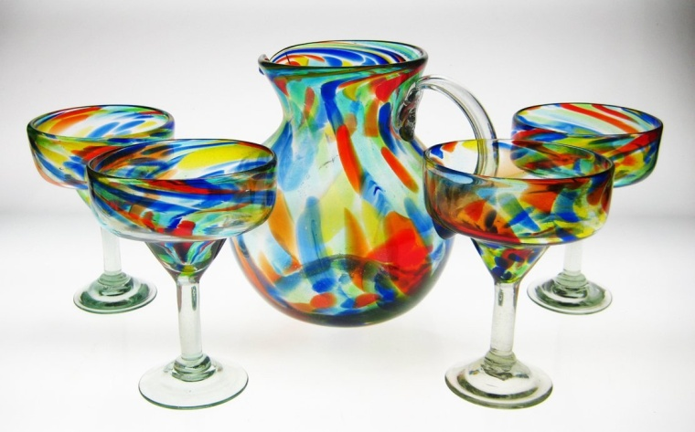 Mexican Margarita Glasses  Pitcher
