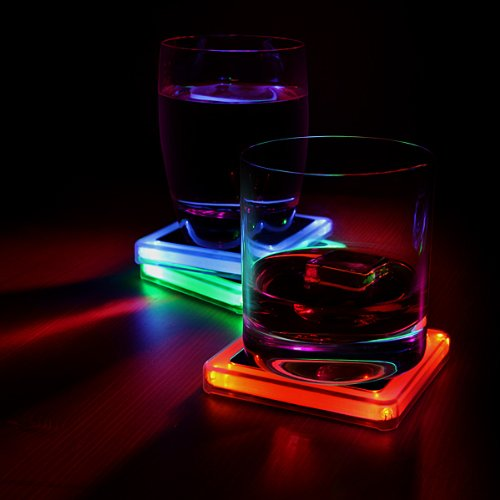 Radioactive Elements Glowing Coaster Set