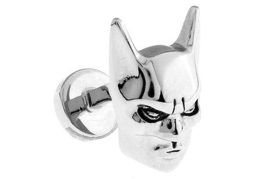 Silver Batman Logo Bruce Wayne Mask Cufflinks