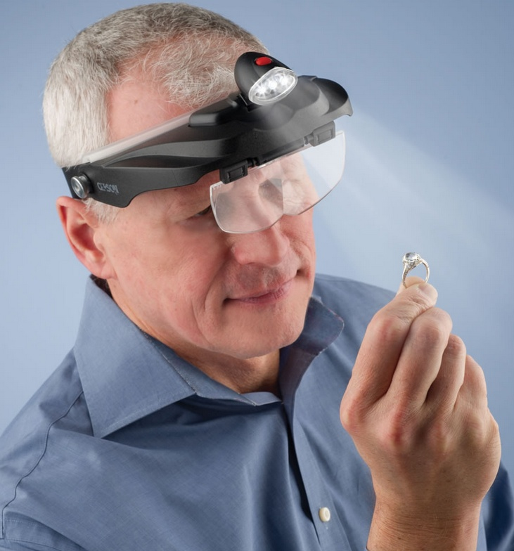 The Jewelers Lighted Magnification Visor