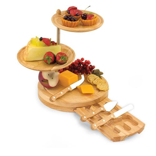 Tiered Fruit and Cheese Serving Set