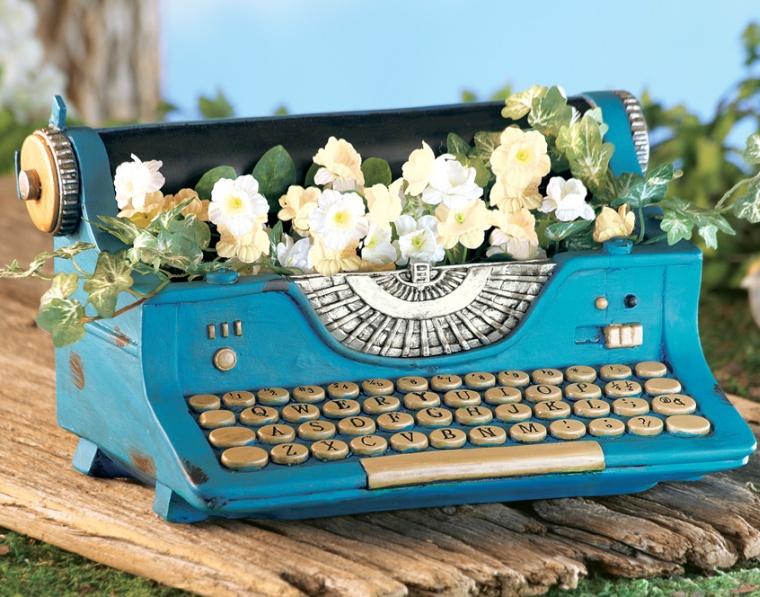 Typewriter Decorative Garden Planter