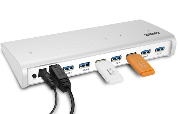 USB 3.0 7-Port Hub Premium Aluminum Hub