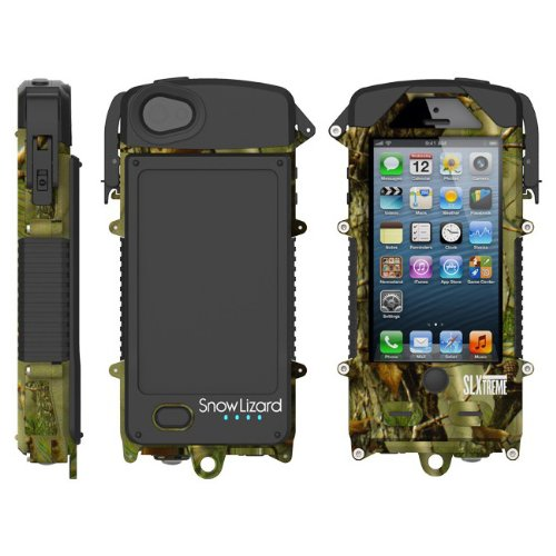 Waterproof iPhone 5 and iPhone 5S Solar Case Charger Hunter Camo