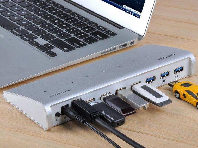 7 Port USB 3.0 Hub Premium Aluminum Hub