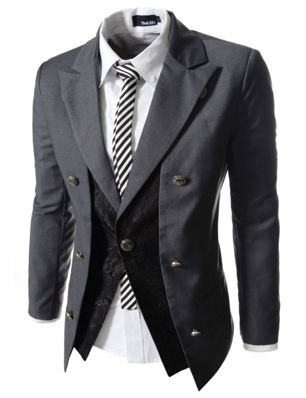 Casual Double Breasted High neck Slim fit Short Blazer Jacket