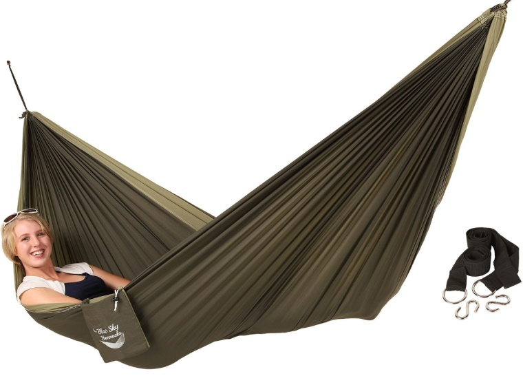 Couples Double Ultralight Hammock with Free Tree Straps