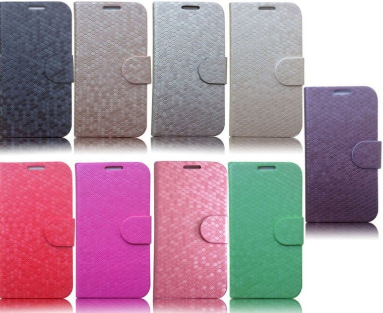 Diamond Pattern Stand Leather Case Cover with Card Slots Compatible for Samsung Galaxy S5