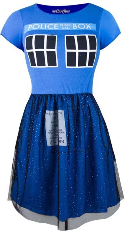 Doctor Who Tardis Fit and Fulle Ballerina Dress