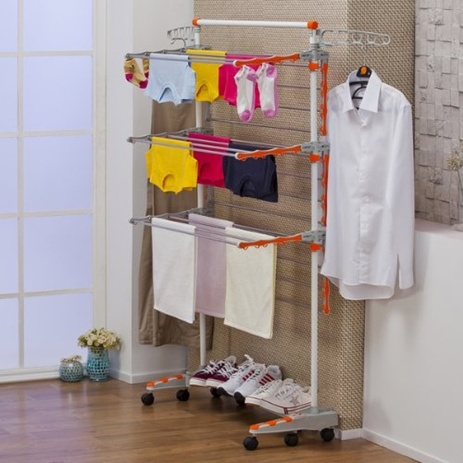 Foldable Heavy Duty and Compact Storage Drying Rack System