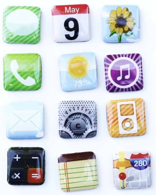 Iphone App Fridge Magnets