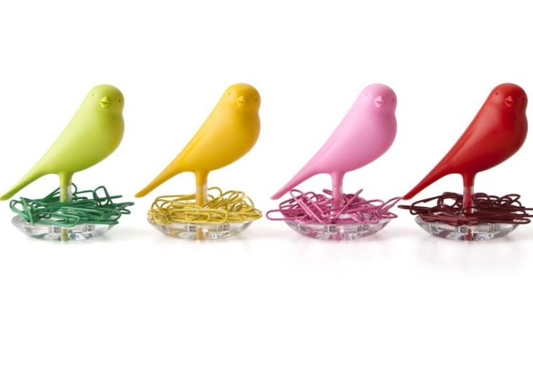 Nest Sparrow Paper Clip Holder