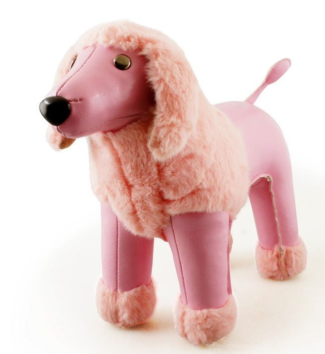 Pink Poodle Animal Bookend