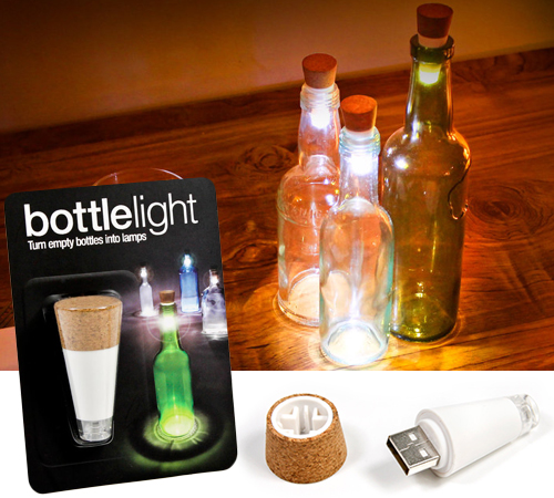 RECHARGABLE BOTTLE LIGHT