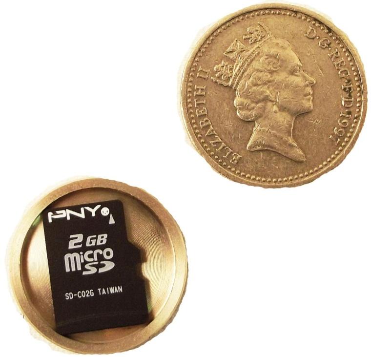 SD Card Covert Spy Coin