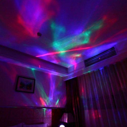 The Aurora Borealis Colored Diamonds LED Night Light Projector