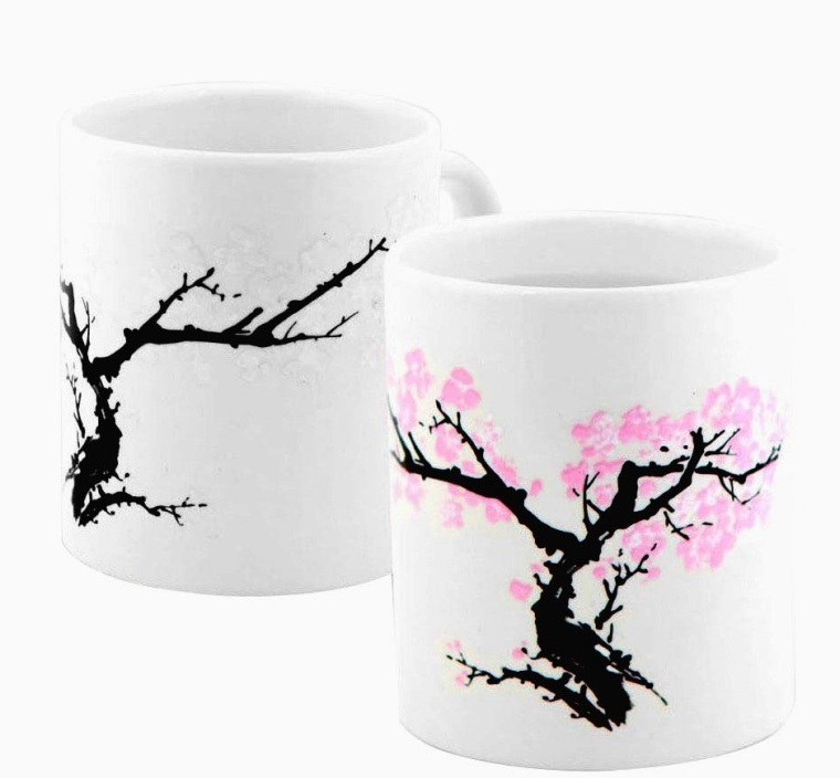 Tree Blossom Morphing Coffee Beverage Color Changing Mug