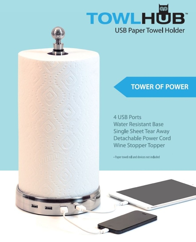 USB paper towel holder