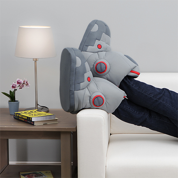 giant_robot_slippers_with_sound_in_use