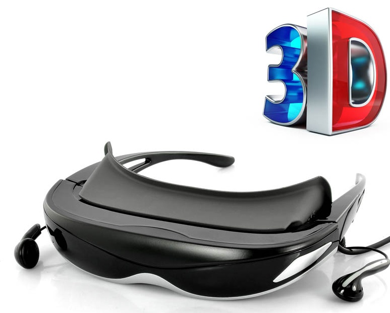 3D2D 80 Inch Virtual Display Digital Video Glasses