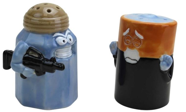 AssaultBattery Salt and Pepper Shakers