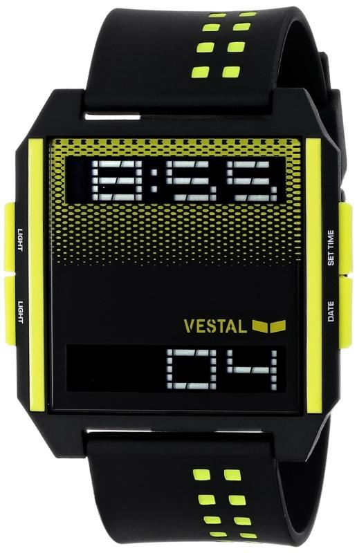Digichord Digital Display Japanese Quartz Black Watch