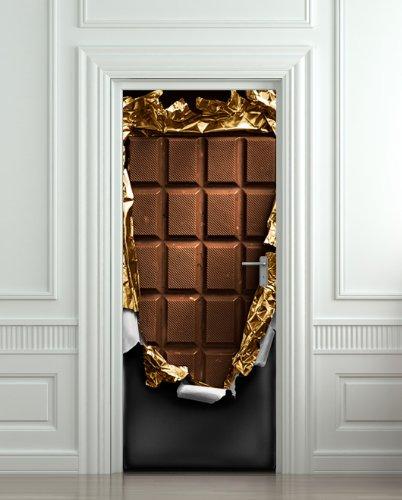 Fridge VINYL STICKER or not sticky PAPER chocolate bar