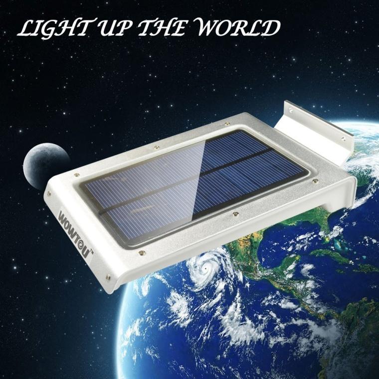 LED Wall Mounted Wireless Solar Powered Motion Sensor Lamp Outdoor Garden
