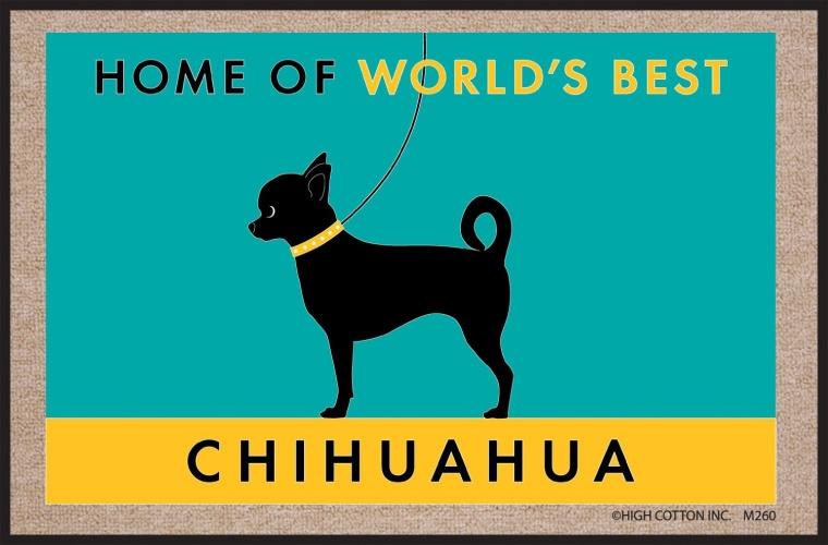Worlds Best Chihuahua Doormat