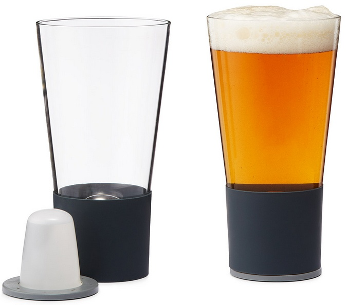 self chilling pint glasses