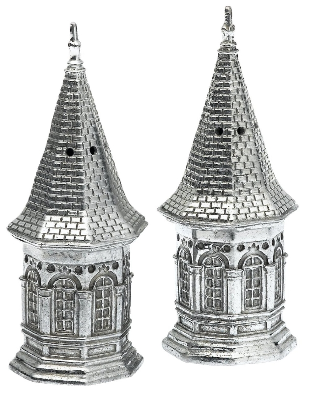 Arthur Court Kentucky Derby Spire Salt and Pepper Set