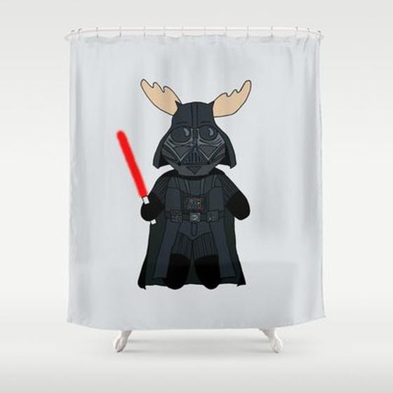 Elk Vader Shower Curtain