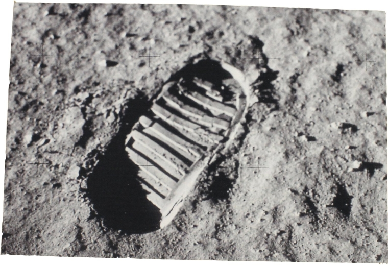 Footprint On Moon Photo Rectangular Doormat