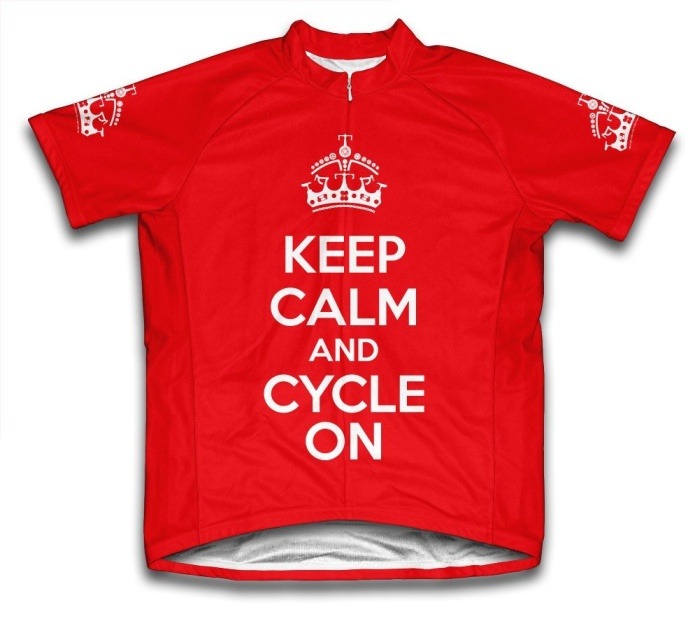 Keep Calm and Cycle On Short Sleeve Cycling Jersey for Women