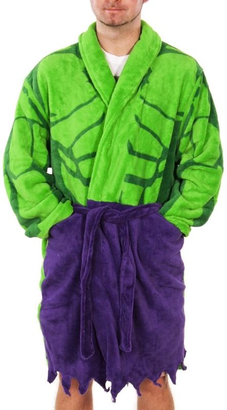 Mens Marvel Comics Incredible Hulk Dressing Gown