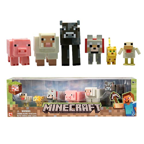 Minecraft Core Animal 3-Inch Action Figure 6-Pack