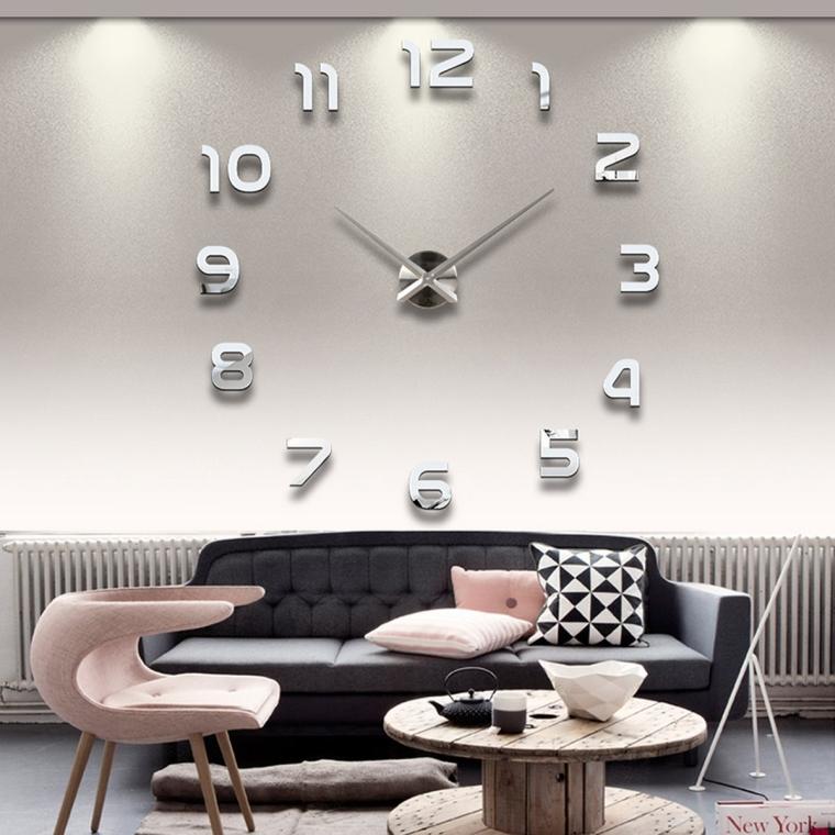 Modern 3D Frameless Large Wall Clock