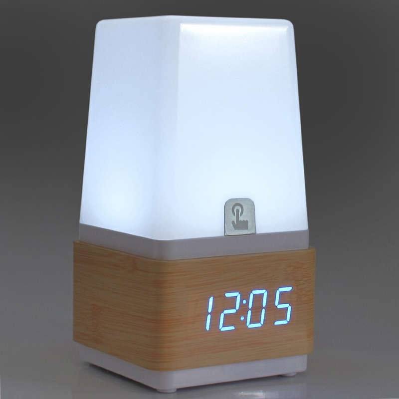 Modern Mini Wooden Clap-on Sound Touch Activated Multifunction Desk Table Lamp