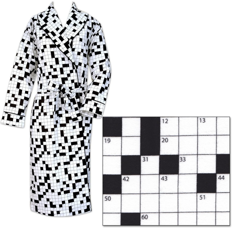 Pajamas Crossword Puzzle Womens Cotton Flannel Robe
