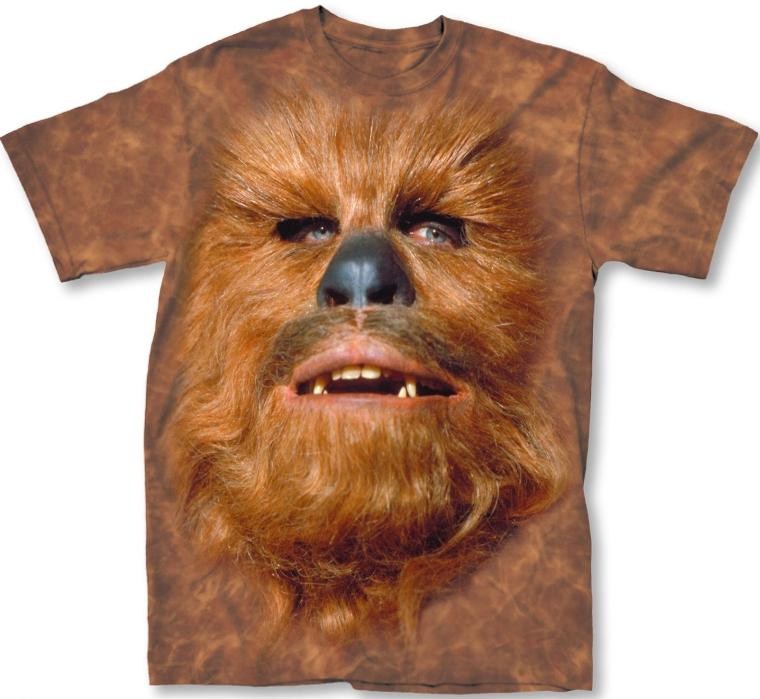 Star Wars Chewbacca Men's Orange Lightweight T-Shirt